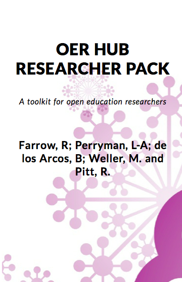 """OER HUB RESEARCHER PACK - A Toolkit for open education researchers"" icon"